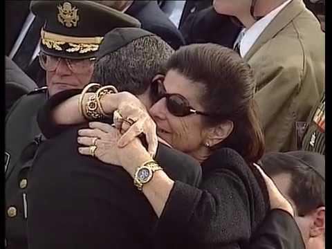 שמעון שבס - נושא דברים אחרונים בהלוויה של רבין